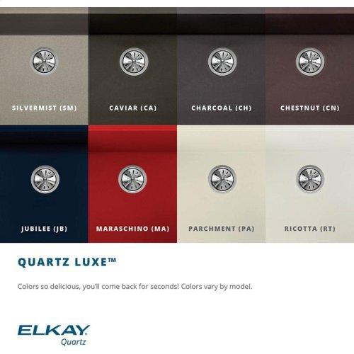 "Elkay Quartz Luxe 35-7/8"" x 19"" x 9"" Single Bowl Undermount Kitchen Sink with Perfect Drain"