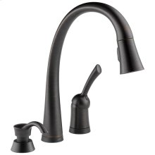 Venetian Bronze Single Handle Pull-Down Kitchen Faucet with Touch 2 O ® Technology and Soap Dispenser