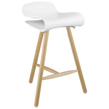 Clip Bar Stool in White