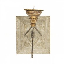 Anette Antiqued Square Candle Sconce