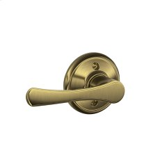 Avila Lever Non-turning Lock - Antique Brass