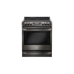 LG Black Stainless Steel Series 6.3 cu. ft. Electric Slide-in Range with ProBake Convection® and EasyClean® - BLACK STAINLESS STEEL