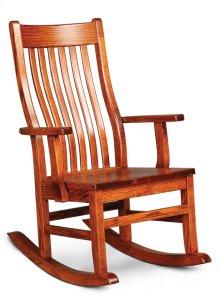 Urbandale II Arm Rocker, Wood Seat