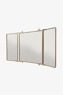 "Daphne Metal Rectangular Wall Mounted Trifold Mirror 42 3/8"" x 26 3/4"" x 1"" STYLE: DPMR01"