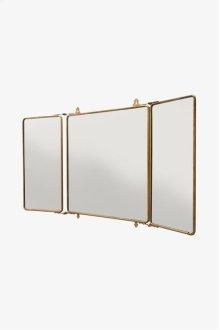 "Daphne Metal Rectangular Wall Mounted Trifold Mirror 42 3/8"" x 26 3/4"" x 1"" STYLE: DPMR01"