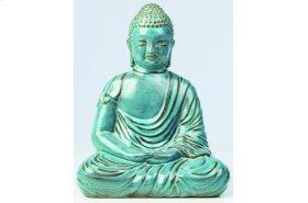 Sea Blue Ceramic Peaceful Buddha