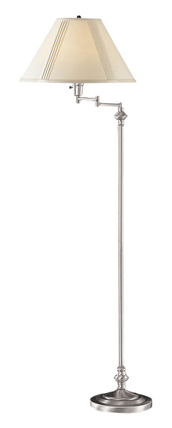 150W 3 way swing arm floor lamp/w 10 lbs. weighted base