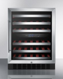 ADA Compliant Dual Zone Built-in Wine Cellar With Digital Thermostat, Stainless Steel Trimmed Shelves, and Stainless Steel Wrapped Cabinet; Replaces Swc530lbistcssada