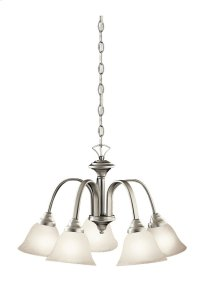 Hastings 5 Light Chandelier Brushed Nickel