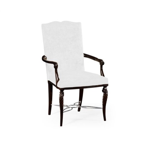 Icarus Dining Armchair, Upholstered in COM