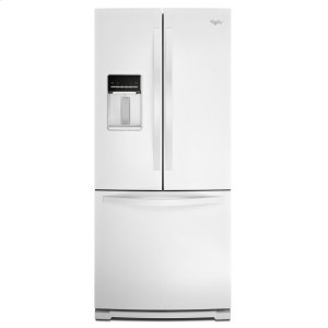 30-inch Wide French Door Refrigerator with Exterior Water Dispenser - 19.7 cu. ft. - WHITE