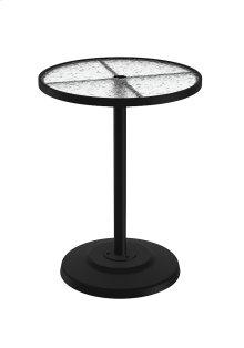 """Acrylic 30"""" Round KD Pedestal Bar Umbrella Table"""