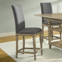Corinne - Upholstered Counter Height Stool - Sun-drenched Acacia Finish