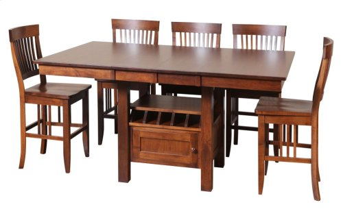 "48/56-2-12"" Rectangular Gathering Cafe Table with Drawer"