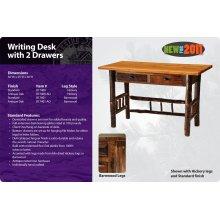 Barnwood Writing Desk with 2 Drawers