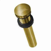 "DR130 1.5"" Push to Seal Dome Drain in Brushed Gold"