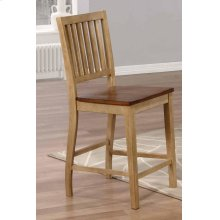 DLU-BR-B60-PW-2  Slat Back Barstool  Set of 2