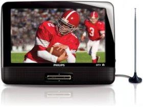 "9"" LCD 3-hr playtime DTV Portable TV"