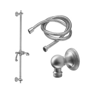 Santa Monica Slide Bar Handshower Kit - Lever Handle With Rope Base - Polished Nickel