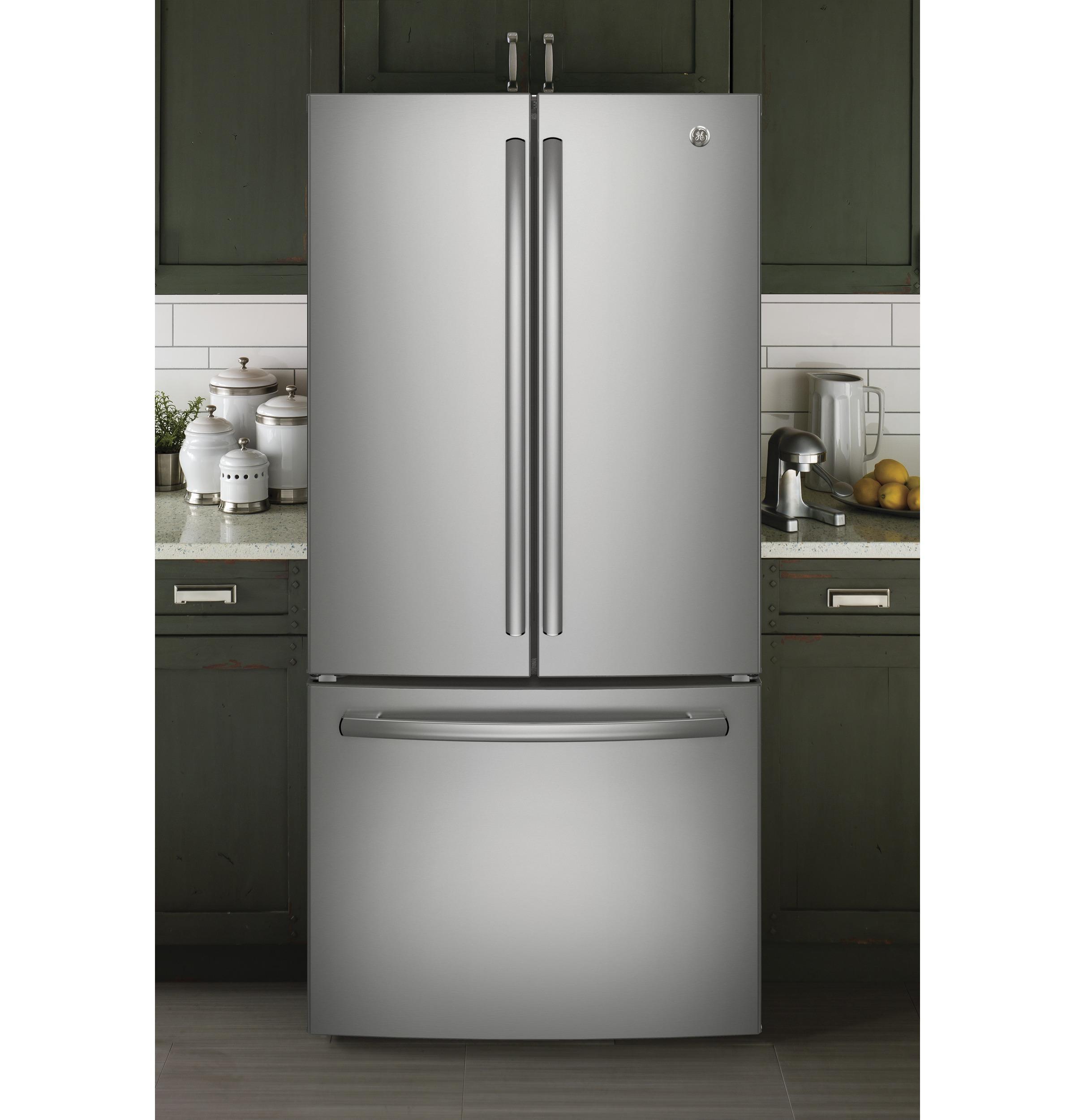 GE U0026reg;energy Staru0026reg; 18.6 Cu. Ft. Counter Depth French Door Refrigerator