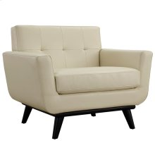 Engage Bonded Leather Armchair in Beige