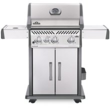 Rogue® 425 Natural Gas Grill with Infrared Side Burner, Stainless Steel