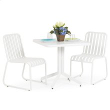 0100 Series 3PC Dining Set Textured White