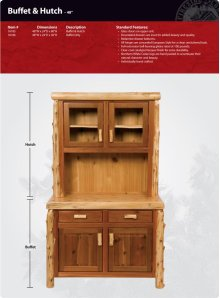 """Buffet and Hutch - 48"""""""