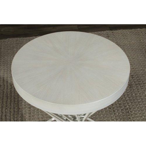 Kanister Backless Counter Stool - White/matte White Metal