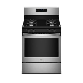Whirlpool® 5.0 cu. ft. Freestanding Gas Range with Adjustable Self-Cleaning - Black-on-Stainless