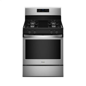WhirlpoolWhirlpool® 5.0 cu. ft. Freestanding Gas Range with Adjustable Self-Cleaning - Black-on-Stainless