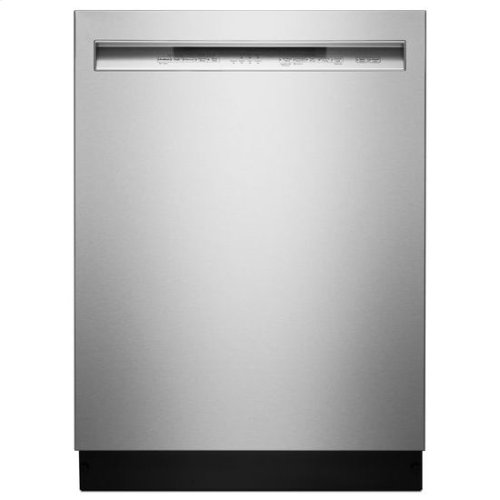 KitchenAid® 46 DBA Dishwasher with ProWash™ Cycle and PrintShield™ Finish, Front Control - Premium Stainless Steel