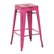 "Bristow 26"" Antique Metal Barstools, Antique Pink Finish, 2-pack"