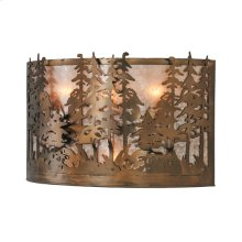 """20""""W Tall Pines Wall Sconce"""