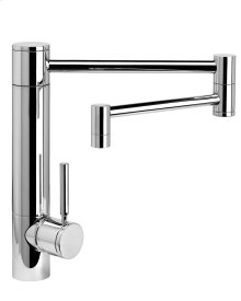 "Waterstone Hunley Kitchen Faucet w/ 18"" Articulated Spout - 3600-18"