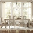 Coventry Two Tone - Rectangular Dining Table - Weathered Driftwood/dover White Finish Product Image