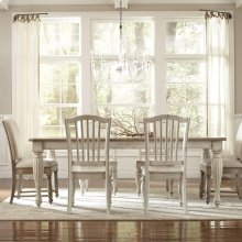 Coventry Two Tone - Rectangular Dining Table - Weathered Driftwood/dover White Finish