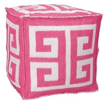 "Outdoor Pillow As555 Hot Pink 16"" X 16"" X 16"" Pouf"
