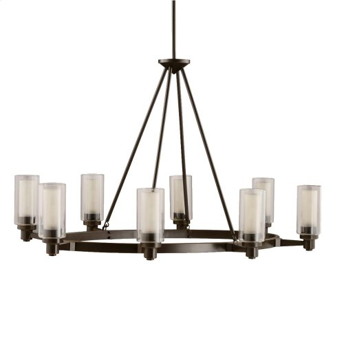 Circolo Collection Circolo 8 Light Chandelier - Olde Bronze
