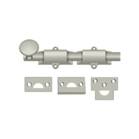 "6"" Surface Bolt, HD - Brushed Nickel"