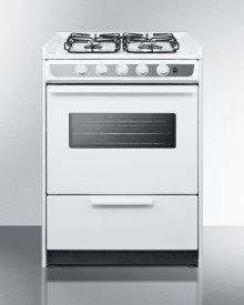 "24"" Wide Slide-in Gas Range In White With Sealed Burners, Oven Window, Light, and Electronic Ignition; Replaces Wnm616rw"