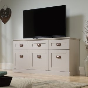 SauderFarmhouse TV Stand and Entertainment Credenza