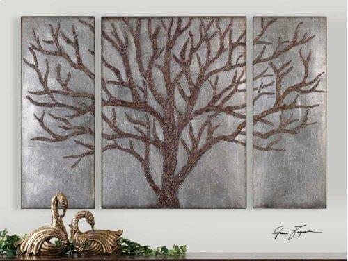 Winter View Metal Wall Decor, S/3