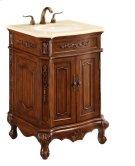 24 in. Single Bathroom Vanity set in Brown Product Image