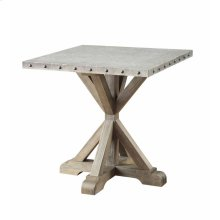 Industrial Driftwood End Table