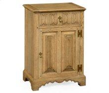 Natural Oak Linenfold Bedside Cabinet