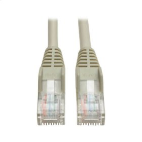 Cat5e 350MHz Snagless Molded Patch Cable (RJ45 M/M) - Gray, 12-ft.