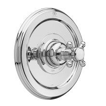 Ashbee Pressure Balanced Shower Trim with Cross Handle - Polished Chrome