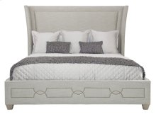 Queen-Sized Criteria Upholstered Bed in Criteria Heather Gray (363)