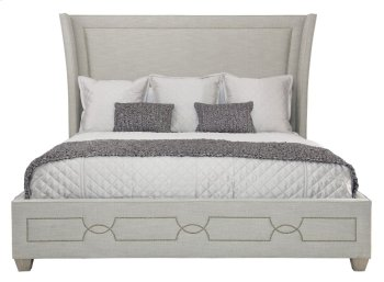 Queen-Sized Criteria Upholstered Bed in Criteria Heather Gray (363) Product Image